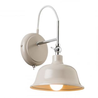 Amelia Retro Wall Lamp in Taupe Grey