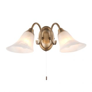 Adina Antique Brass Wall Light