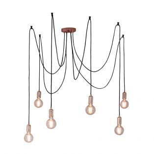 Deo 6 Light Mulit-Pendant in Copper
