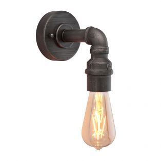 Azir Aged Pewter Wall Light