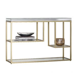Damsay Console Table in Champagne