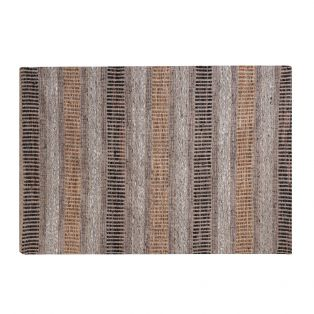 Eli Leather Rug in Earthy Brown Pattern
