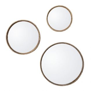Atlas Set of Round Mirrors in Natural