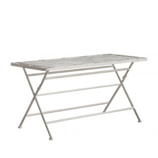 Gavin Outdoor Coffee Table in Weathered White