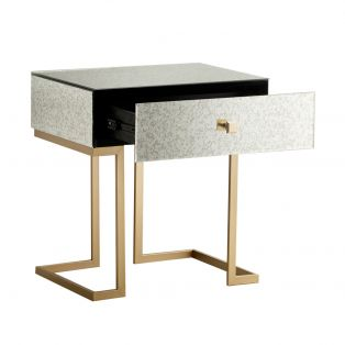 Ginger Mirrored Side Table