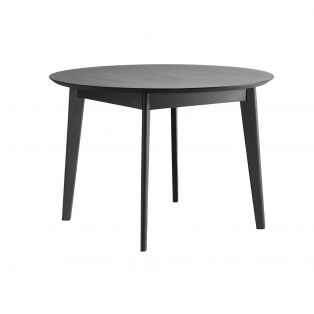Travis Round Dining Table in Black