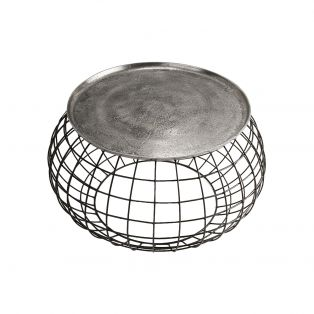 Ross Coffee Table in Antique Silver