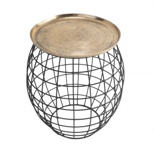 Ross Side Table in Antique Gold