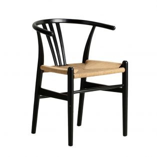Hana Dining Chair in Black, Set of Two