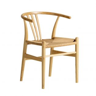 Hana Dining Chair in Natural, Set of Two