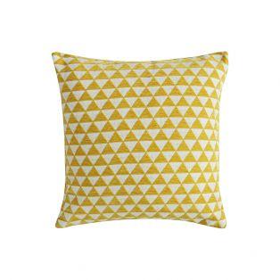 Jacqueline Jacquard Cushion in Yellow