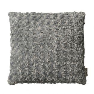 Yrsa Faux Fur Cushion in Mid Grey