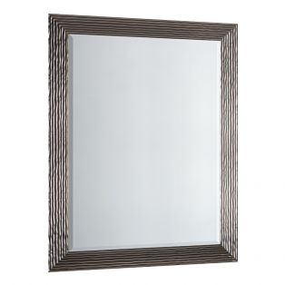Brian Overmantle Mirror in Silver