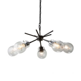 Fred 5 Lighting Pendant in Clear Glass