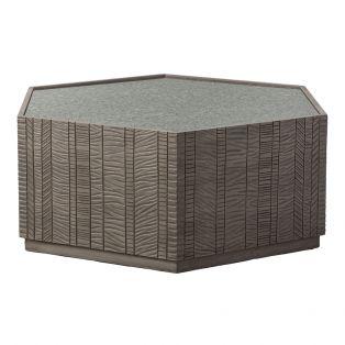 Ollin Acacia Hexagon Coffee Table