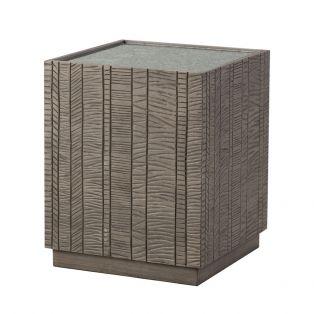 Ollin Acacia Cube Side Table