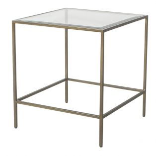Marshall Side Table in Champagne