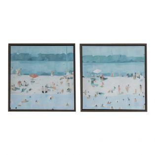 Beach Days Canvas Framed Wall Art, Set of Two