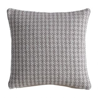 Alfie Houndstooth Knitted Cushion