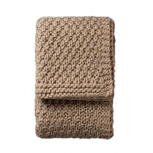 Marley Oatmeal Heavy Knit Throw