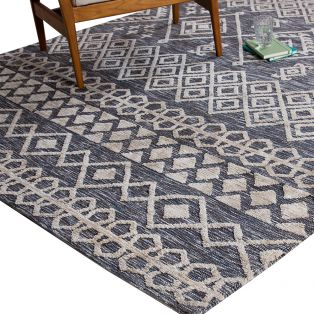 Sierra Charcoal Patterned Rug, Small