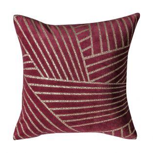 Saville Maroon Velvet Linear Cushion