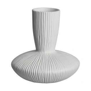 Pinery White Textured Wide Vase