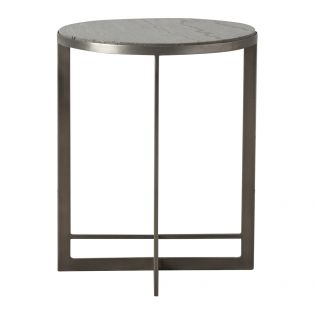 Oxendan Silver Marble Side Table